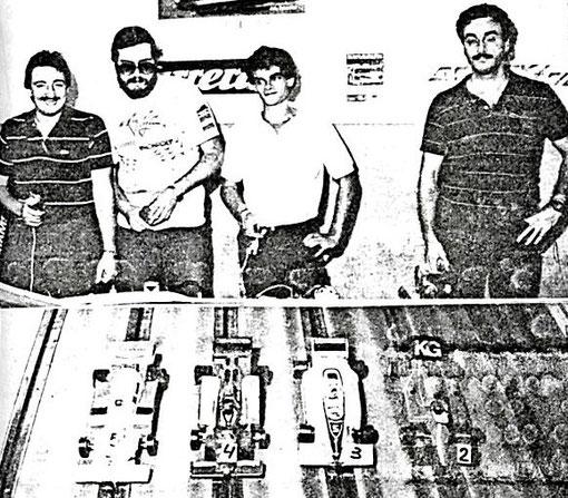 FORMULE 1 : José-Luis Peña, Miguel Pascual-Laborda, Sylvain Pigny, Giuseppe Rudilosso