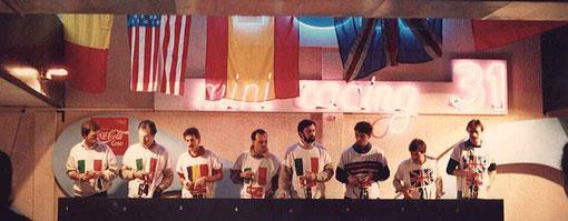 Alberto Capra (I) Angelo Magnani (I) Henri Roufosse (B) Paolo Trigilio (I) Bruno Novarese (I) Sergio Maresca (I) Chris James (GB) Charlie Gooding (GB)