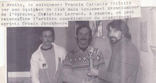 Aywaille 1984 sprint: Urbain Jonckheere,  Christian Legrand,  Francis Cathénis.