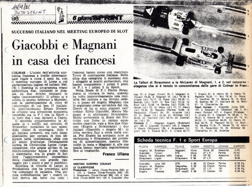 AutoSprint 15/09/1981 article de Franco Uliana