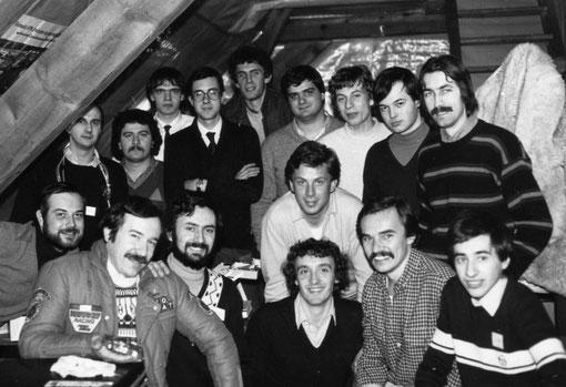 Les pilotes Italiens à Munster en février 1981.