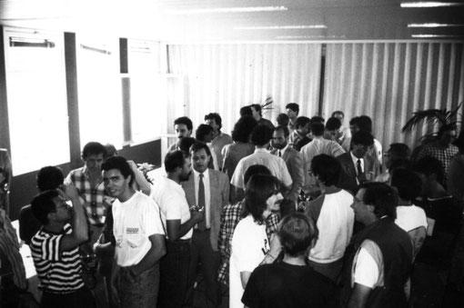 Réception de gala pour les participants au championnat d'Europe de slot racing 1/32 à Agen en 1988.