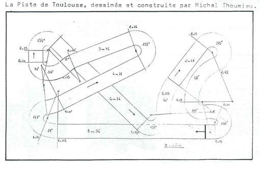 Plan de la MTT de Toulouse 1987