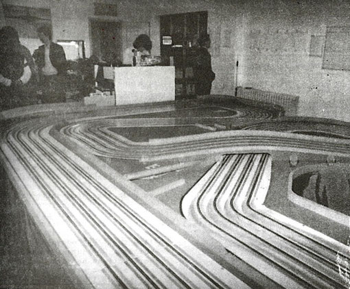 La piste de slot racing de Brescia lors du Grand Prix 1986 ( Photo: Gérard Caupène )