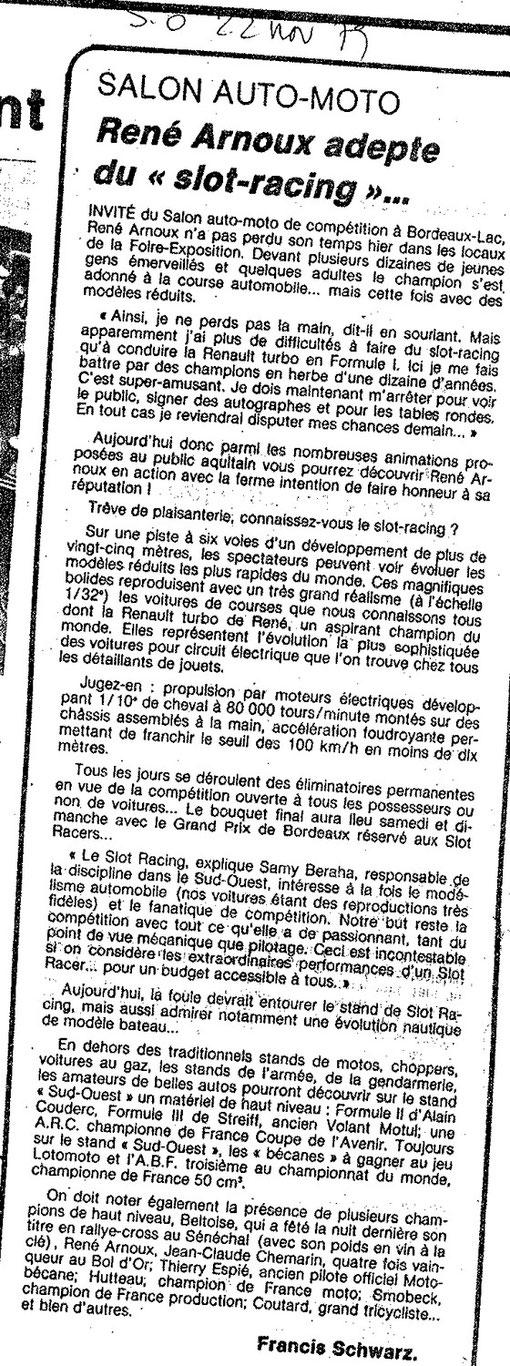 Sud-Ouest du 22 novembre 1979