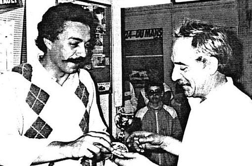 Philippe Grandjean et René Guélin au Grand Prix de Bron 1985 ( MiniRacing 8 )