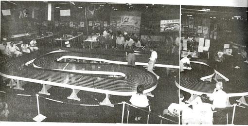 Montage photo de Gérard Caupène montrant la piste Raymond Van Campenhout des championnat du monde à Valkenburg 1986