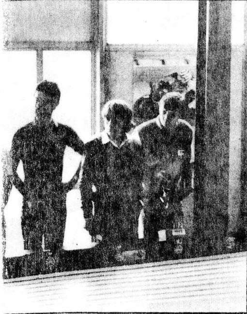 Didier Dupuis, Pascal Guélin, Pierre Engels. Finale Sport-Europe Bordeaux 1982