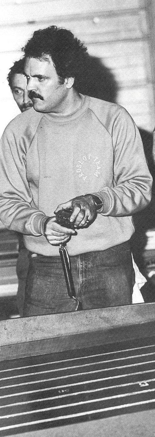Dan DeBella 3 ième du championnat 1985 des États-Unis de slot racing 1/24 Free-Class