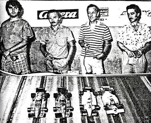 FORMULE 1 : Sergio Maresca, Giovanni Montiglio, Paolo Niccolaï, Antonio Ortega;