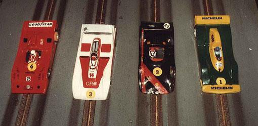 Sport-Europe série 5 : Alfa-Roméo 33TT12 Jean-Noël Pascal, CAC Can-Am Serge Vuillemin, Shadow Michel Thoumieu, Spyder NF11 Can-Am Samy Béraha