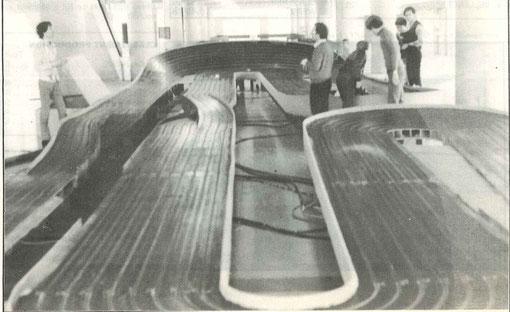La piste de l'école centrale de Châtenay-Malabry le 9 mai  1982 à 9 heures du matin ( photo de Dominique Bellenger )