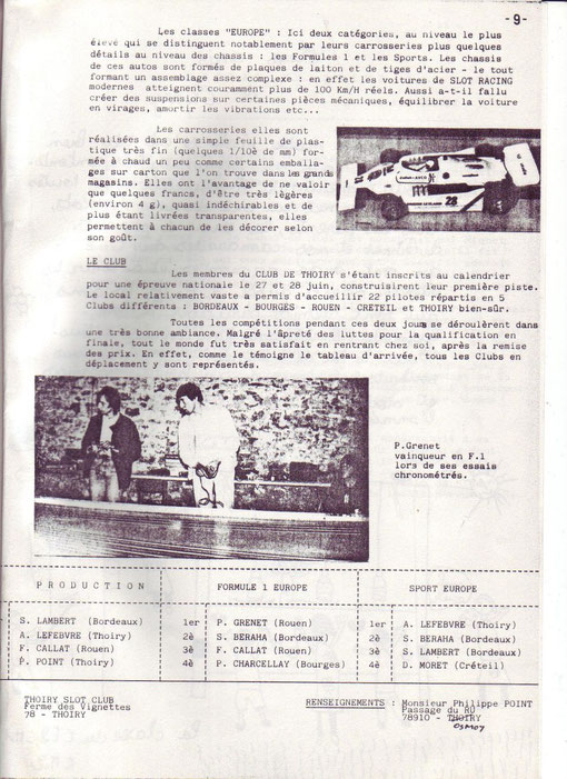 Article de presse du meeting de Thoiry 1981