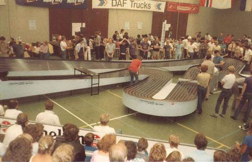 Demi Finale n° 2. Slot racing 1982 UDEN Wots