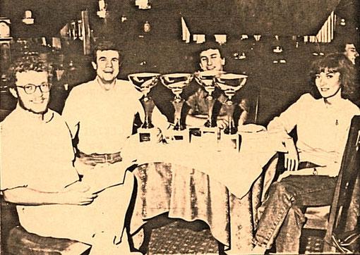 L'équipage italien vainqueur des 24 Horas de BIG-BEN 1986 : Enrico Carrara - Franco Gianotti - Paolo Roversi - Corinna Gianotti