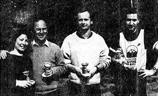 BORDEAUX 1 !  Françoise Lapeyre-Beraha, Samy Beraha, Laurent Cardin, Gérard Caupène.
