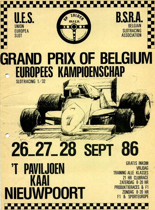 Grand Prix of Belgium ( affiche retrouvée par Miguel Pascual-Laborda )