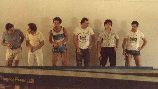 Série F 1 des 13 aux 18 ième temps : Pietro Razzano, Samy Beraha, Gérard Caupène, Pierre Duez, Pascal Guelin, Jean-Noël Pascal. ( Photo Fred Nivet )
