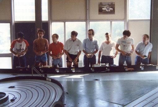 Finale Formule 1 - Bordeaux 1986 .  Le pilotes sont dans l'action !