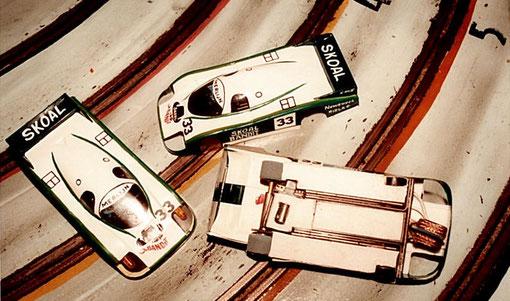 Classée 7 ième la Porsche 956 Skoal Bandit de Bruxelles Sloefspeed