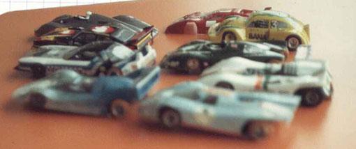 Quelques Slot cars à Châtenay-Malabry 1982