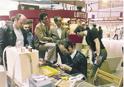 Jean-Pierre Sutter dans les stands de Göteborg 1978 (photo Gil Michel )