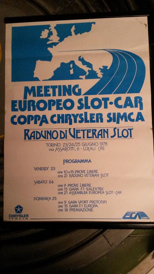 4 ième Championnat d'europe de slot racing 1/32 , Turin 23, 24, 25 juillet 1978