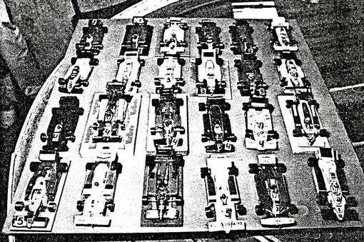 Parc fermé Formule 1 de Barcelone 1986