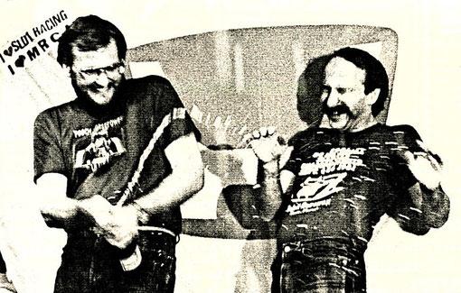 John Strachan et Csaba Szekelyhidi Champions du monde V.E.C. 1985