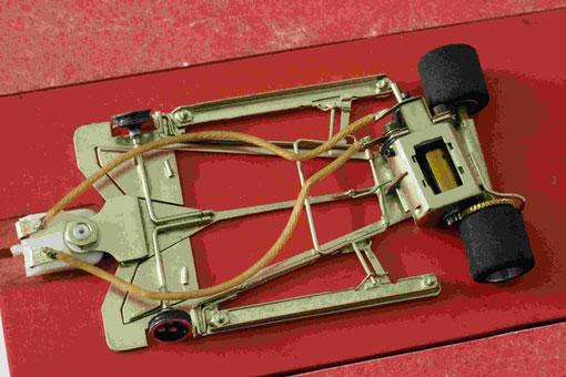 Châssis slot-car de Gustav Heymann en 1988