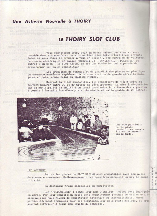 Slot racing à Thoiry en 1981
