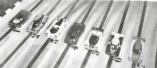 24 heures de Bordeaux 1986 : Les slot cars au départ !