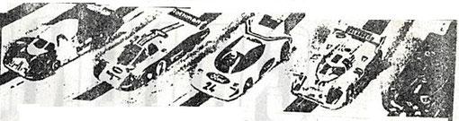 5 t'autos des 24 heures du Mans slot racing 1986
