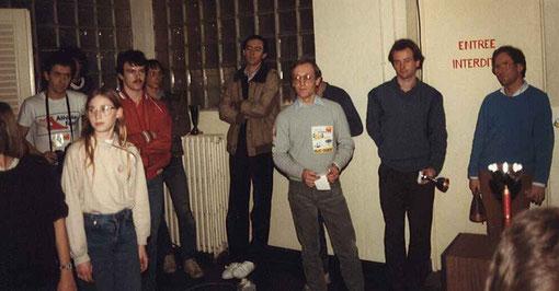 GP slot Agen 1985 :  Gérard Caupène, Jean-François Mallet, Fred Warnant , Didier Moret, Serge Vuillemin, Laurent Cardin, Samy Béraha