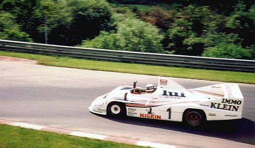 La vraie Porsche n° 1 de Jochen Mass qui a été choisie par Olivier Demoget
