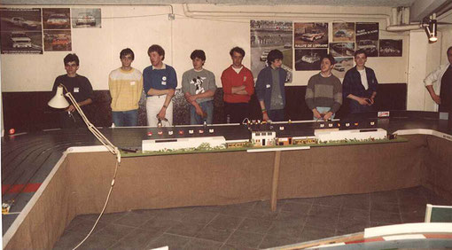 Les pilotes au départ des 24 heures de Rouen 1986