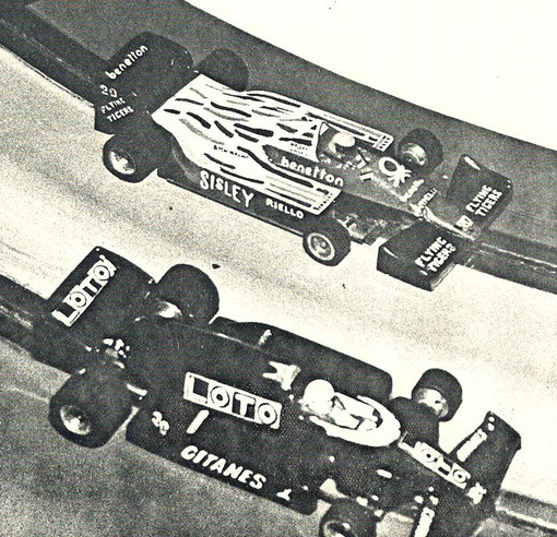 Deux Formule 1, une Benetton et une Ligier au Grand Prix de Font-Romeu 1987