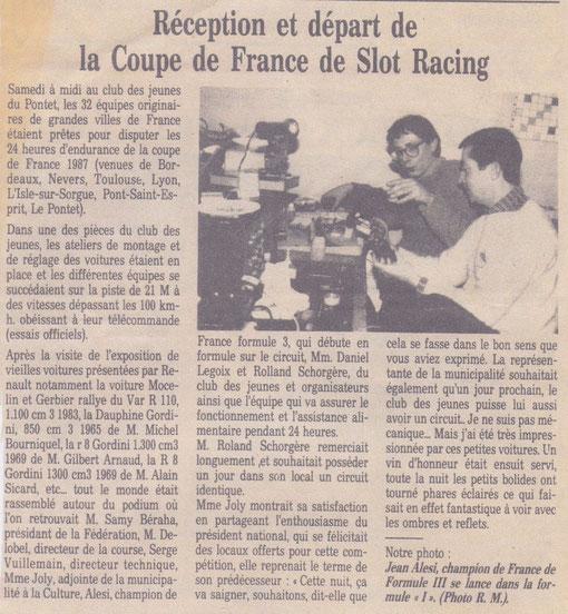 Presse régionale. Fred Warnant et ( à mon avis ) non pas Jean Alési ( Qui était tout jeune à l'époque ) mais Jean-Noël Pascal.