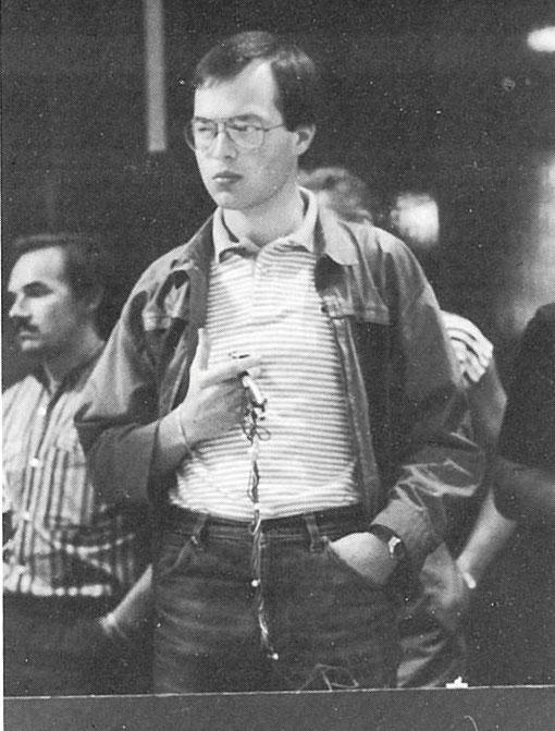 Angelo Magnani, co vainqueur de l'épreuve de Nassau à Anvers en 1985