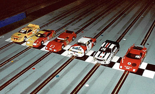 3 ième série production.  Lancia Beta Didier Dupuis, Ferrari Daytona Philippe Point, Ferrari BB512 Françoise Lapeyre, Ford Escort Fred Warnant, Opel Ascona Pierre Duez, Ferrari BB512 François Callat