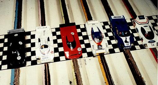 Départ des 24 h du Mans 1985 slot racing