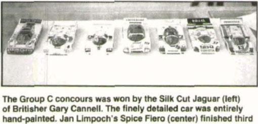 Concours d'élégance : 1 Gary Cannell, Jaguar XJR  -  3 Jan Limpach, Spice Fiero