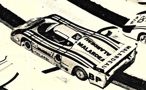La Lancia LC 2 de l'équipe d'Agen