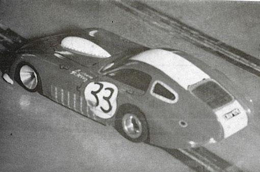 Bristol 450, 8 ième aux 24 heures du Mans de 1954 avec Tommy Wisdom et Jack Fairman, slot car de Romuald Bonnette