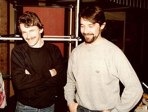 Deux membres de l'équipe Belge de l 'ASMOCO de Liège : Henri Roufosse et Francis Cathenis