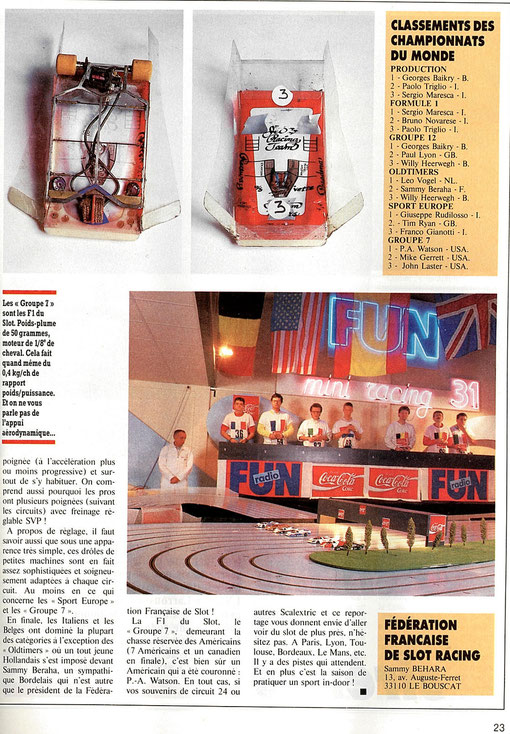 Article AutoHebdo 606 page 23 de Jean-Pierre Malcher