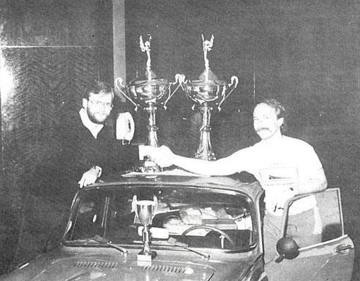 John Strachan et Csaba Szekelyhidi Champions du monde Formule V.E.C. 1985