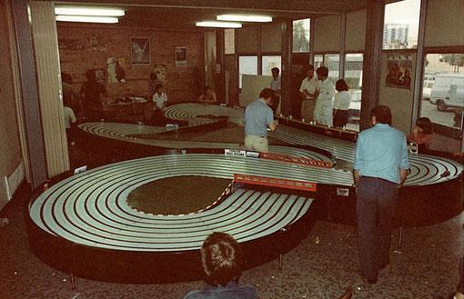 La piste de Bordeaux lors de la 3 ième manche du championnat régional 1983