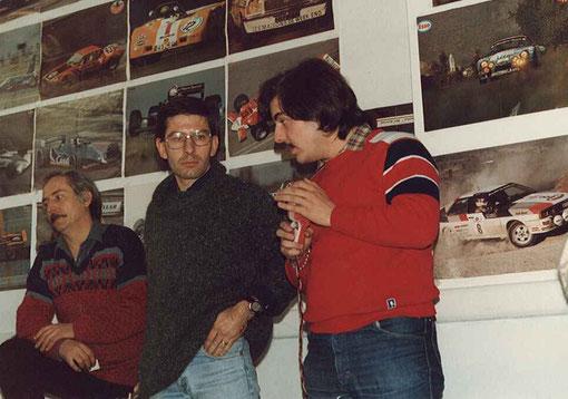 René Guélin, Jean-Pierre Antinoux et Christophe Peix.