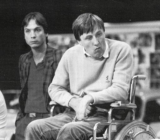 Bernd Möbus et Martin Gramann, vice-champions du monde de V.E.C. slot racing 1985